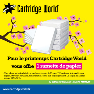 Offre printemps ramette papier Cartridge World Compigne