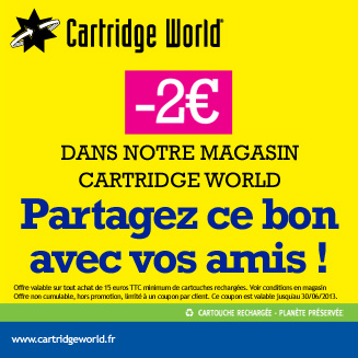 Coupon de rduction Cartridge World Compigne